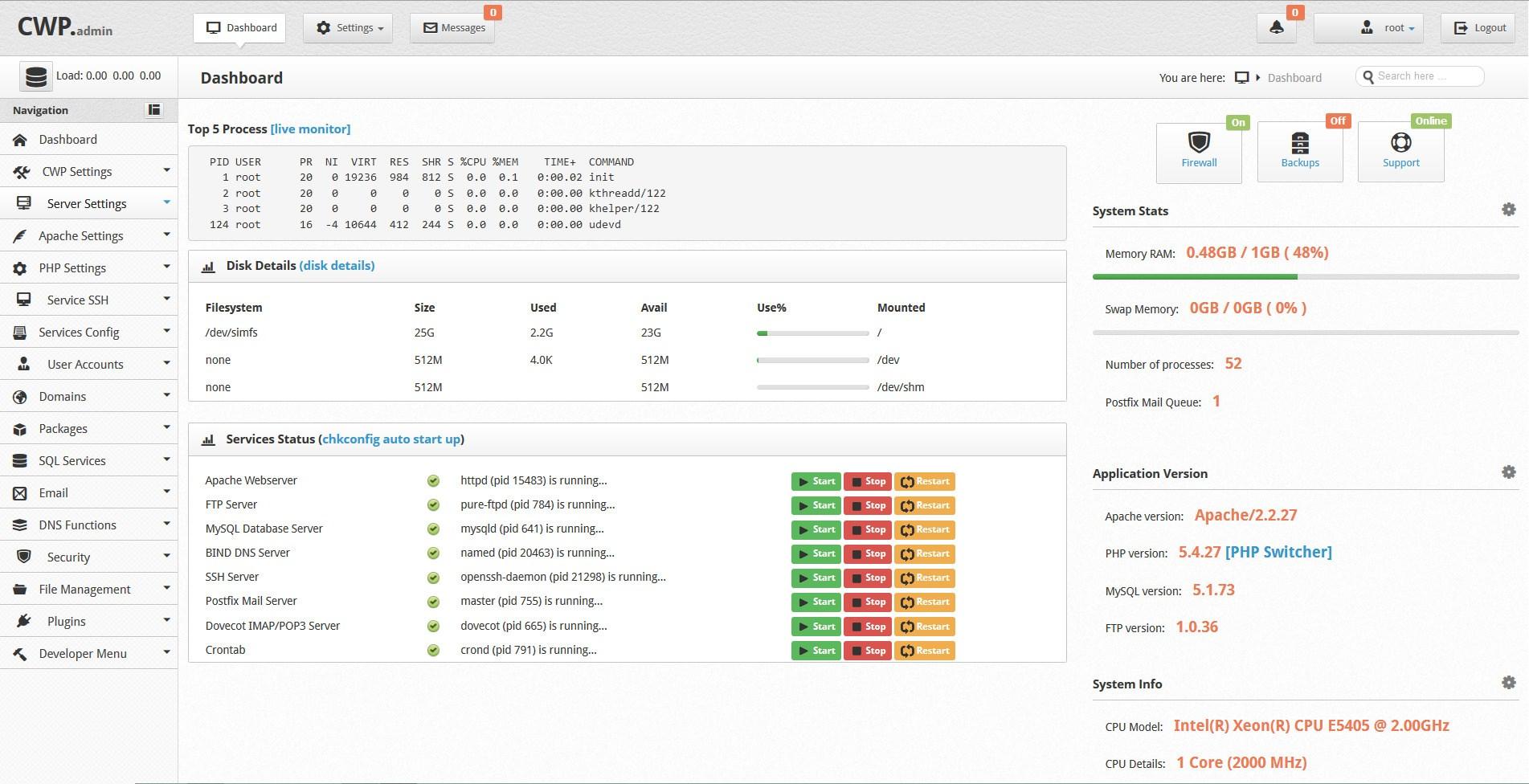 آموزش نصب سنتوس وب پنل Centos Web Panel