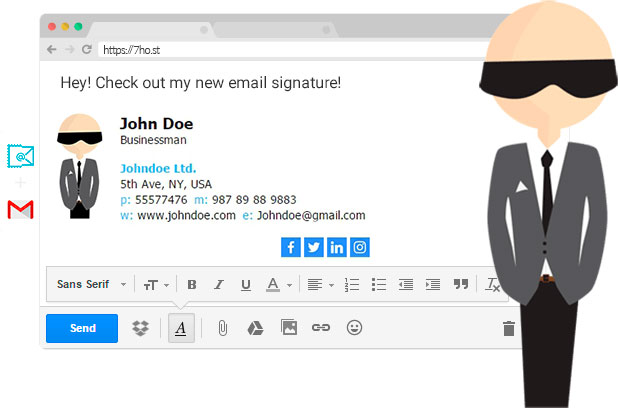 امضای ایمیل HTML در مک میل