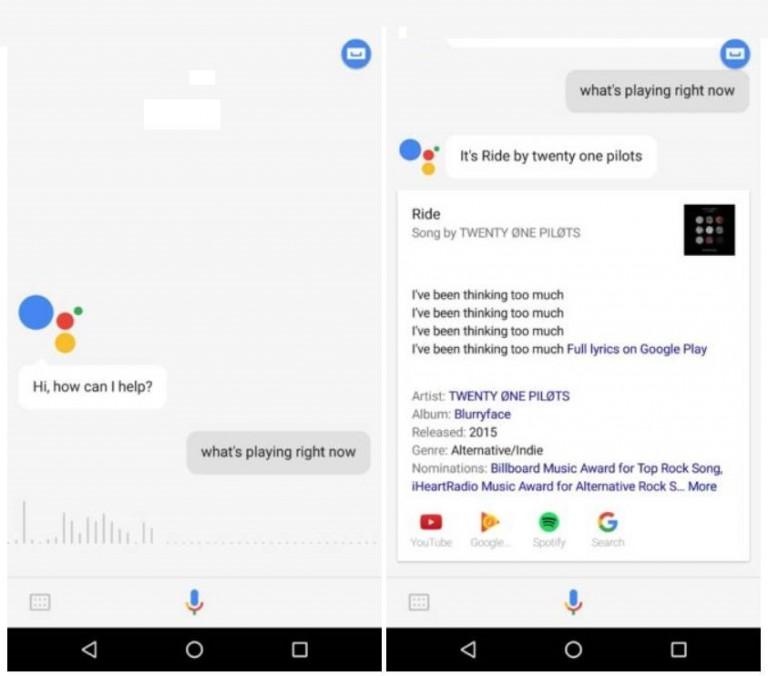 گوگل اسیستنت تشخیص اهنگ