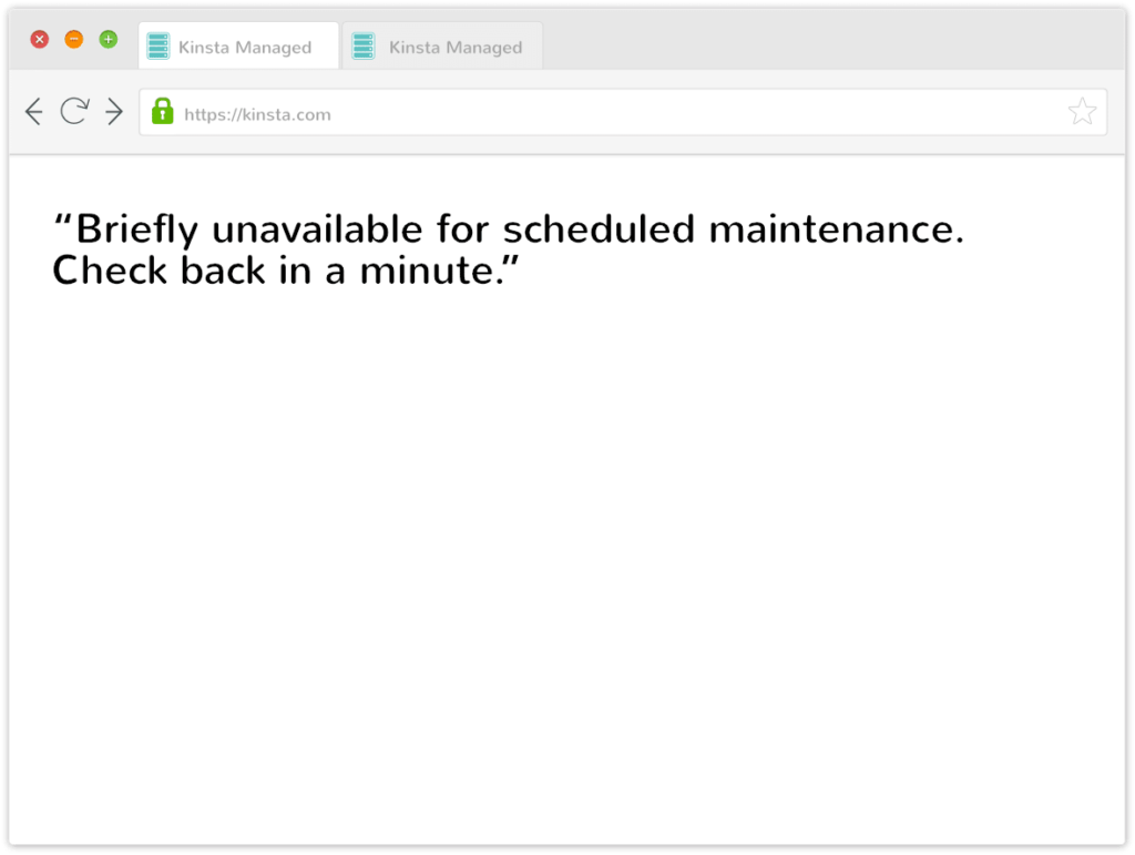 رفع مشکل ارور Briefly unavailable for scheduled maintenance. Check back in a minute.