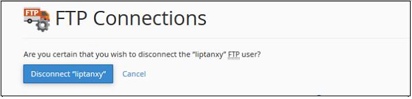حذف کاربران از محیط اتصالات اف تی پی