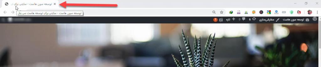 نمایش عنوان و شعار در سایت وردپرس