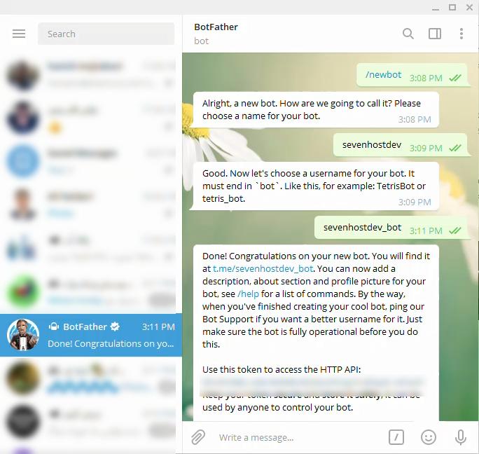 ساخت ربات جهت راه اندازی افزونه شبکه اجتماعی تلگرام در وردپرس