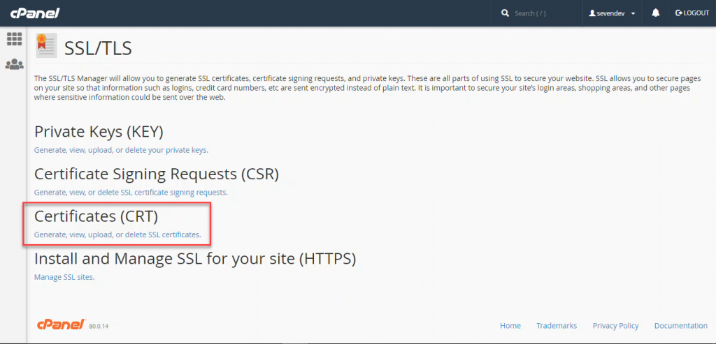 نصب گواهینامه امنیتی SSL