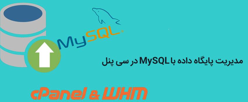 مدیریت پایگاه داده با MySQL در سی پنل