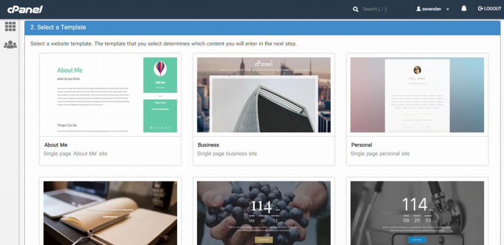 انتخاب الگو برای ساخت سایت با ابزار انتشار سایت