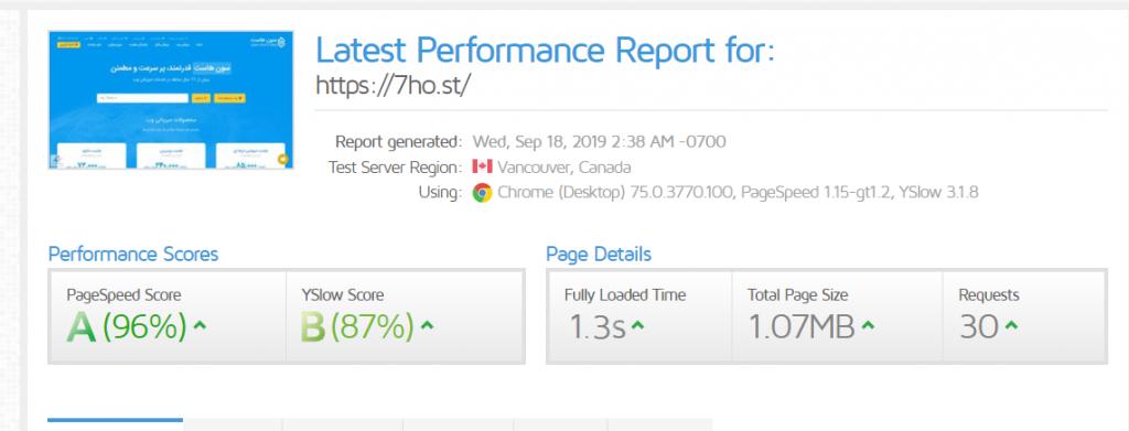 بهبود سرعت بارگیری وب سایت