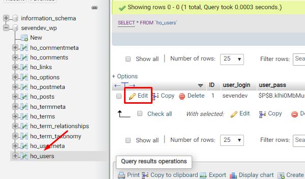تغییر دادن ایمیل حساب کاربری مدیریت وردپرس را از طریق phpMyAdmin