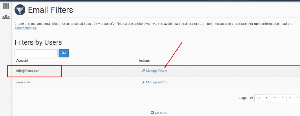Email Filters برای فیلتر کردن دریافت ایمیل در سی پنل