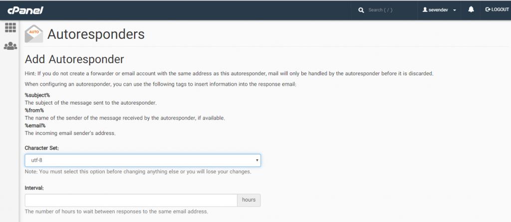 تنظیمات پاسخگویی اتوماتیک به ایمیل ها در هاست