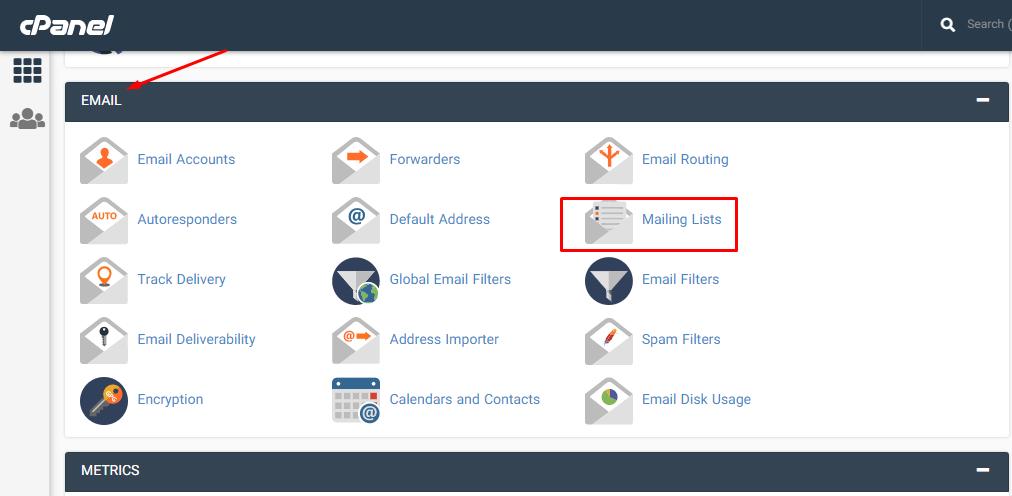 آموزش ساخت لیست های ایمیل در هاست سی پنل به صورت تصویری