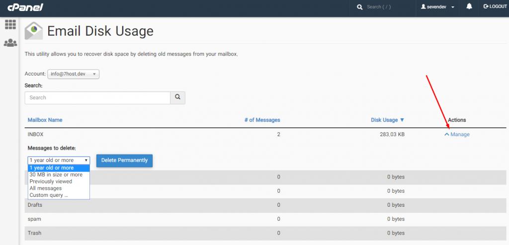 آموزش مدیریت فضای ایمیل در سی پنل با ابزار Email Disk Usage