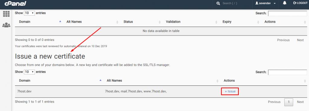 فعال کردن گواهینامه SSL از طریق Let's Encrypt™ SSL