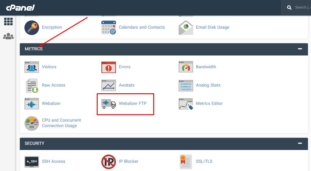 استفاده از Webalizer FTP برای مشاهده آمار FTP در سی پنل