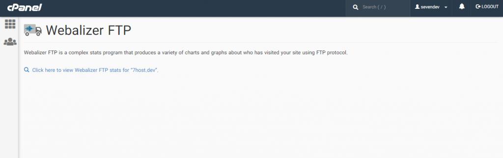 Webalizer FTP برای مشاهده آمار FTP در سی پنل
