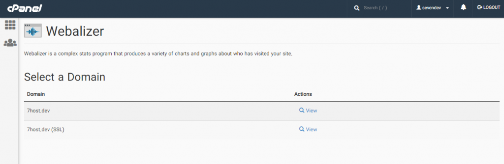 نحوه استفاده از Webalizer برای مشاهده آمار بازدید سایت در سی پنل
