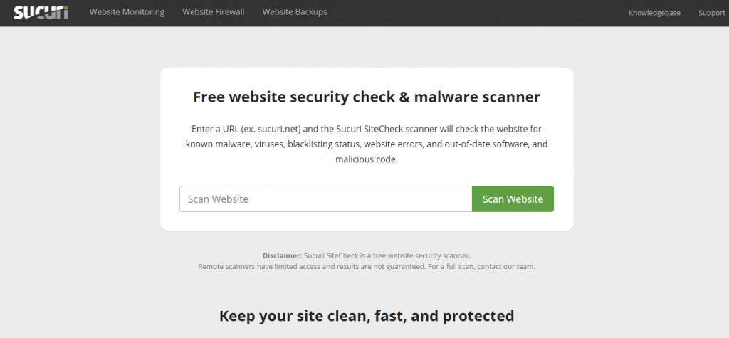 نحوه استفاده از ابزار آنلاین امنیت SUCURI