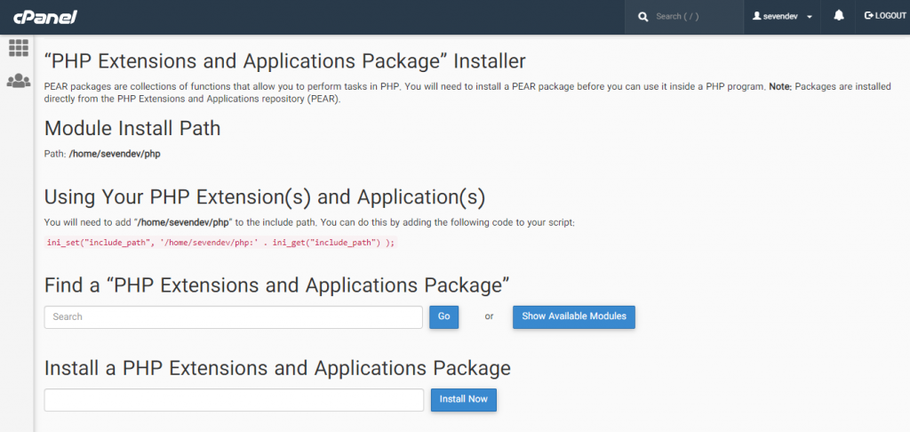 آموزش نصب بسته های php در سی پنل
