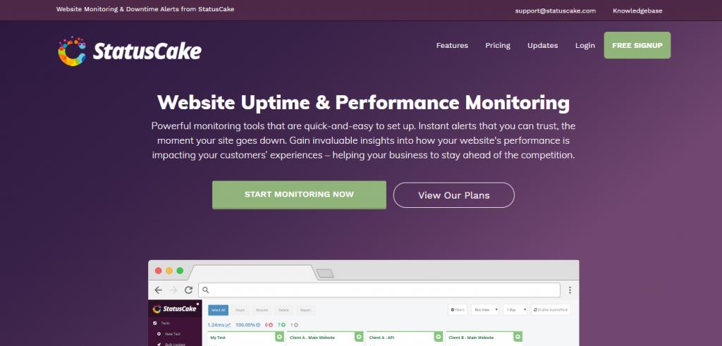بررسی وضعیت آپتایم سایت با ابزار آنلاین Statuscake